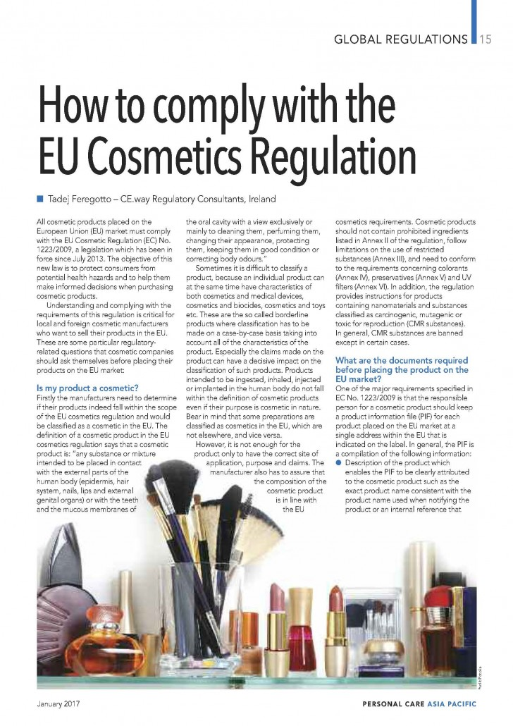 regulation ec no 1223 2009 of the Consultation on enforcing the regulation on cosmetic products (ec) no 1223/2009 3 consultation on the enforcement of the regulation (ec) no1223/2009.