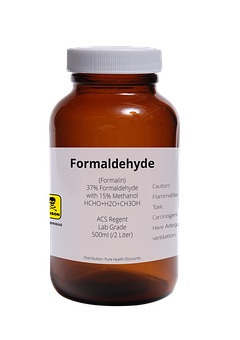 The use of formaldehyde in cosmetics